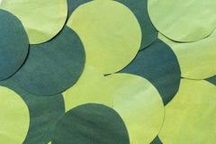 Confettis verts Images libres de droits
