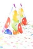confettishattdeltagare Arkivbilder
