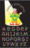 Confettizeichen und -clown Lizenzfreie Stockbilder