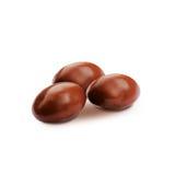 Confetto di marrone scuro, in coperto di cioccolato Fotografie Stock
