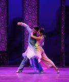 Confia em geral o ato do corpo- em segundo de eventos do drama-Shawan da dança do passado Imagem de Stock Royalty Free