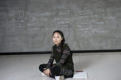 A confiança do estudante asiático Foto de Stock Royalty Free