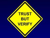 A confiança mas verifica o sinal ilustração do vetor