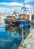 Confiança no porto de Burghead foto de stock