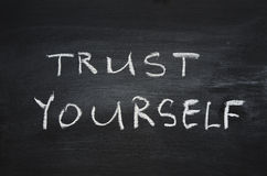 Confiança você mesmo Fotos de Stock Royalty Free