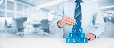 Confiança da construção Imagens de Stock