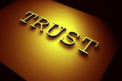 Confiance illustration libre de droits
