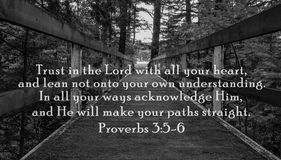Confiance dans le seigneur Images stock
