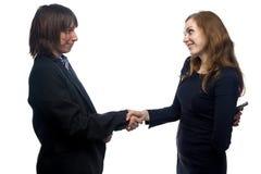 Confiance de l'homme et de la jeune femme Photo libre de droits