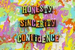 Confiance de sincérité d'honnêteté illustration libre de droits