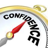 Confiance - la boussole vous mène au succès et à la croissance Image libre de droits