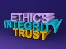 Confianza de la integridad de los éticas Imagenes de archivo