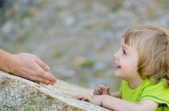Confianza de un niño Imágenes de archivo libres de regalías