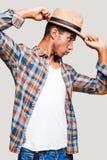 Confianza en sombrero Imagenes de archivo