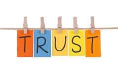 Confianza, palabras coloridas Fotografía de archivo libre de regalías