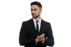 Confidence and charisma. Royalty Free Stock Images