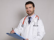 Confidence doctor isolated Royalty Free Stock Photos