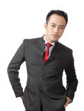 Confidence man wearing suit Stock Photography