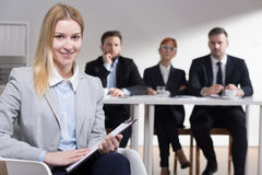 Confidence is the most important on job interview Stock Photo