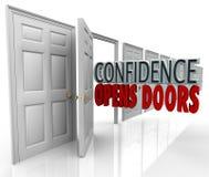Confidence Opens Doors Words in Doorway royalty free illustration