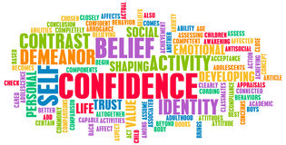 Confidence. In Personal Belief and Self Developing Stock Image