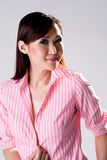 Confidence smile of a woman. Business woman with confidence smile Stock Photography