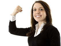 Confidence and Strength. A businesswoman showing her strength and confidence royalty free stock images