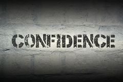 Confidence WORD GR Royalty Free Stock Photos