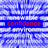 Confidence Word Shows Self-Assurance Composure Royalty Free Stock Images