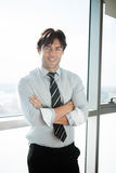 Confidence worker at the office Royalty Free Stock Photos
