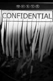 Confidencial Imagem de Stock Royalty Free