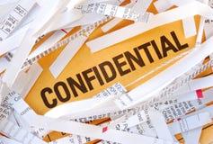 Confidencial Imagens de Stock Royalty Free
