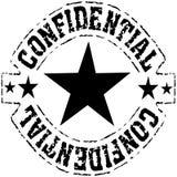 Confidencial - sello negro sucio de la tinta Imágenes de archivo libres de regalías