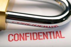 Confidencialidad 1 Fotos de archivo