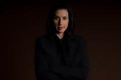 Confident. Female in studio headshot royalty free stock photography