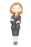Confident 3d Business Lady in Vector. Illustration of 3d business man in vector giving presentation Royalty Free Stock Photos
