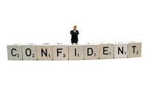 Confident. A confident businessman standing ready to make his deal stock photo