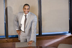 Confident African American businessman in suit Stock Photo
