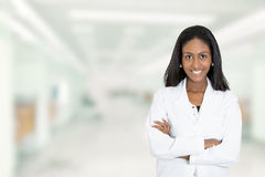 Confident African American female doctor medical professional stock photos