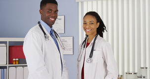 Confident African American medical professionals smiling Royalty Free Stock Image