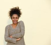 Confident african american woman smiling Stock Photography