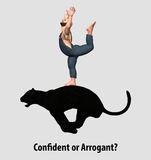 Confident or Arrogant Stock Images