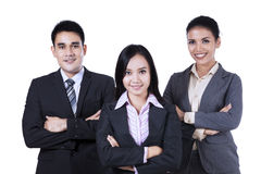 Confident asian business people Royalty Free Stock Photos