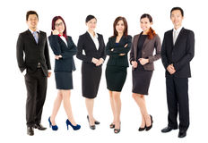 Confident asian business team Stock Images