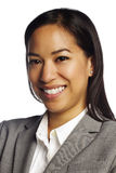 Confident asian business woman on white Royalty Free Stock Image