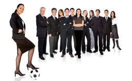 Confident asian businesswoman with a business team behind Stock Photography