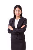 Confident asian businesswoman crossing her arms Royalty Free Stock Photography
