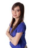Confident Asian businesswoman smiles Royalty Free Stock Image