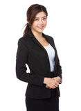 Confident asian businesswoman on a white background Royalty Free Stock Photos