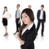 Confident Asian leader Stock Images